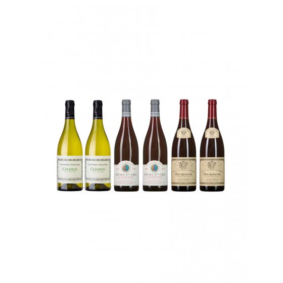 """Coffret vin Bourgogne """"Sur la route des vins"""""""