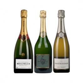"""Coffret Cadeau Champagne Grandes Maisons """"Box 3 Bouteilles"""""""