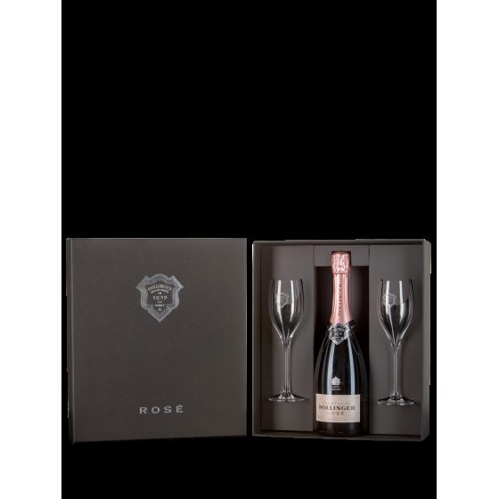 Coffret Bollinger Spécial Cuvée Rosé + 2 verres