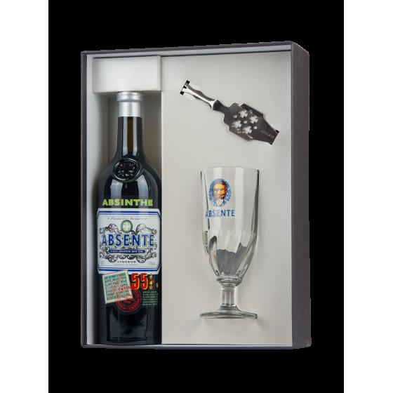 "Coffret ""Absent 55"" verre + cuillère à absinthe"