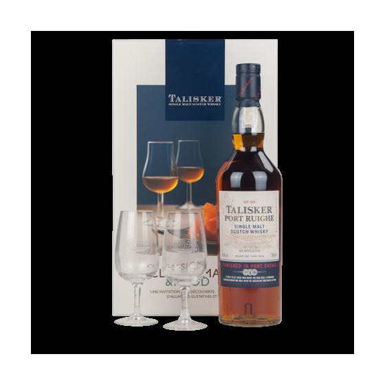 "TALISKER ""Coffret Port Ruighe + 2 verres"""