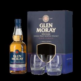 Distillerie GLEN MORAY Port Cask Finish - Coffret 2 verres