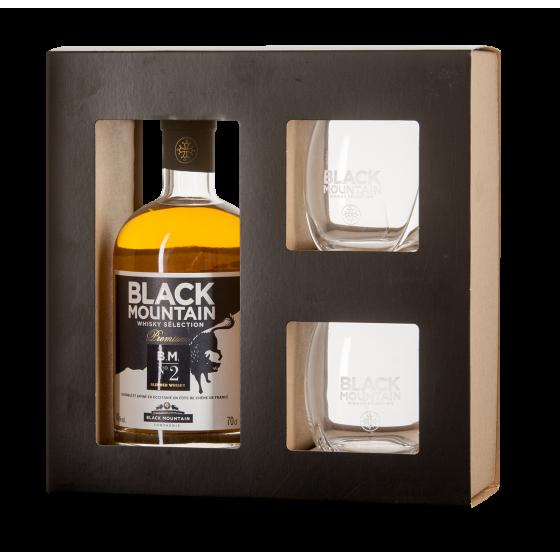 Coffret Whisky Black Mountain N° 2 + 2 verres