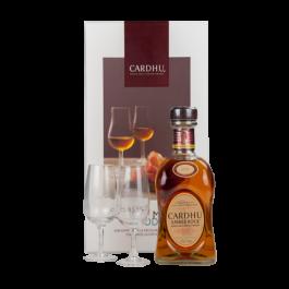 "Distillerie CARDHU ""Coffret Amber Rcok + 2 verres"""