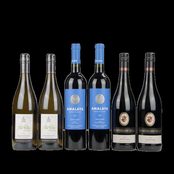 """Coffret vin Etrangers """"Trésors du Nouveau Monde"""""""