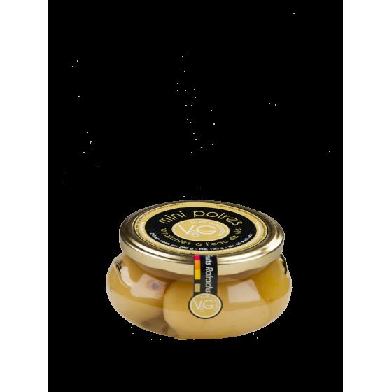 """Vergers de Gascogne """"Mini-poire à l'eau de vie"""" bocal verre 290ml"""