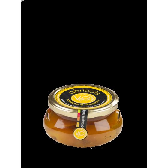 """Vergers de Gascogne """"Abricot à l'amaretto"""" bocal verre 290ml"""