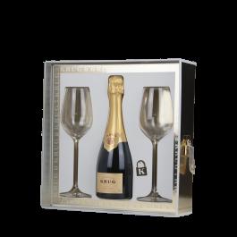 """Champagne Krug  """"Coffret Oenologikrug demie bouteille + 2 verres"""""""