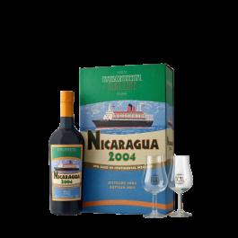 """Transcontinental Rum """"Coffret Nicaragua 2004 + 2 verres"""""""