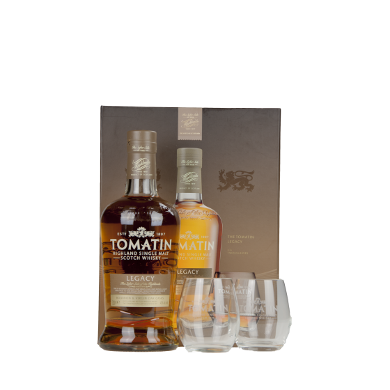 "Whisky Tomatin ""Coffret Legacy + 2 verres"""