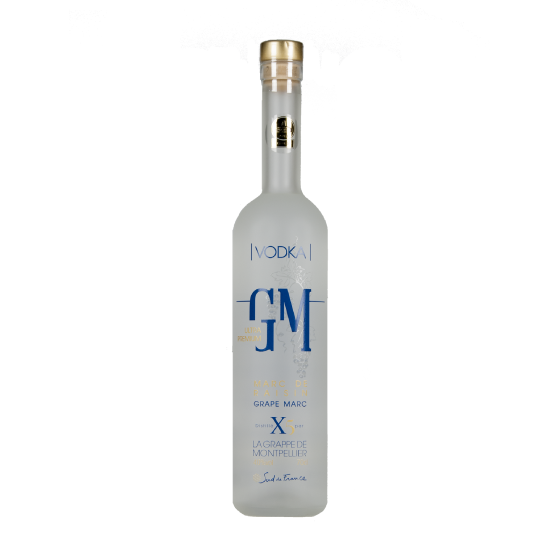 """VODKA Grappe De Montpellier """"Vodka de Marc de Raisin """""""