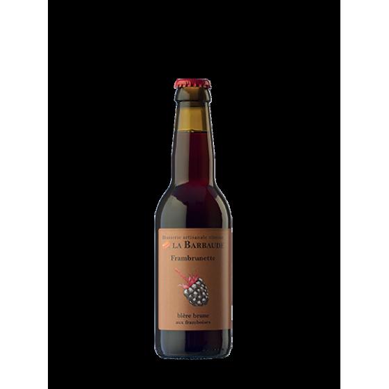 "Bière La Barbaude ""Frambrunette"" Brune 33cl"