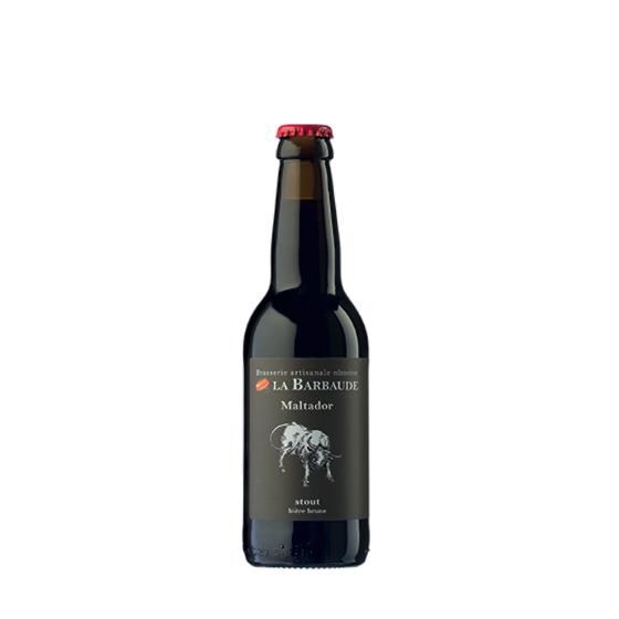 """Bière La Barbaude """"Maltador"""" Brune 33cl"""