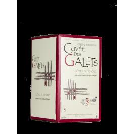 """Les Vignerons d'Estézargues  """"Cuvée des Galets""""  Bib 5 litres Côtes du Rhône  Rouge"""