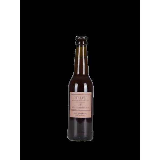"""Bière Helvii """"Marron"""" 33cl"""