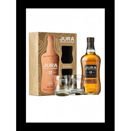 "Whisky Isle of Jura ""Coffret 12 ans + 2 verres"""